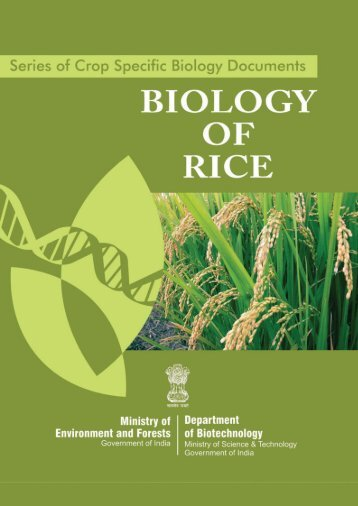 Biology of RICE Dec. 09.pmd - Department of Biotechnology