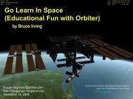 Go Learn In Space (Educational Fun With Orbiter  - Pipex