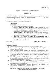 Uputstvo za pisanje izvještaja za izbor u akademska/naučna zvanja