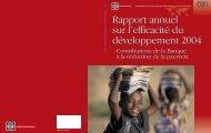 Rapport annuel sur l'efficacité du développement 2004 Rapport ...