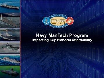 Navy ManTech Program Overview - NSRP