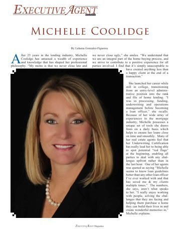 Michelle Coolidge - Executive Agent Magazine