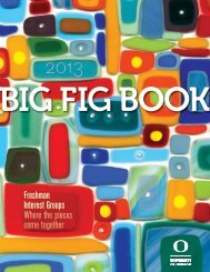 The Big FIG Book - First-Year Programs - University of Oregon