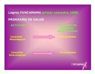 cuadro comparativo resultados programa de salud ... - Funcamama