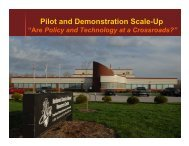 Pilot and Demonstration Scale-Up - Center for Advanced BioEnergy ...