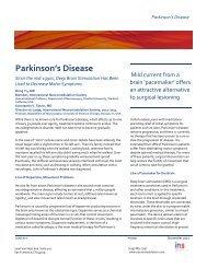 Parkinson's Disease - International Neuromodulation Society