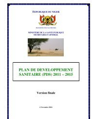 plan de developpement sanitaire (pds) 2011 – 2015 - International ...