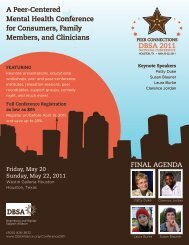 Brochure for DBSA 2011 National Conference (PDF)