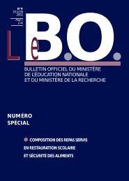 re stauration - Ministère de l'Éducation nationale