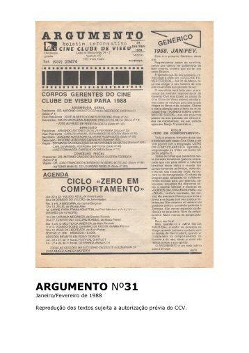 Argumento nº31 - Cine Clube de Viseu
