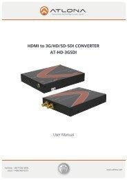 HDMI to 3G/HD/SD-SDI CONVERTER AT-HD-3GSDI - Atlona