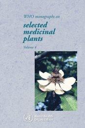 WHO monographs on selected medicinal plants - travolekar.ru