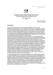 Diagnóstico de las Reservas Naturales Urbanas ... - Aves Argentinas