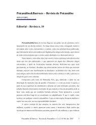 Editorial Revista Número v.5, n.2 - Psicanálise & Barroco