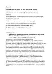 Protokoll des Treffens - Bürgerinitiative Oderberger Straße