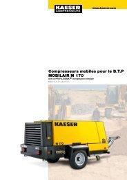 M 170 11.5–17.0 m³/min 405–600 cfm - Kaeser