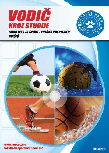 Preuzmite VODIČ KROZ STUDIJE Fakulteta za sport i fizičko ...