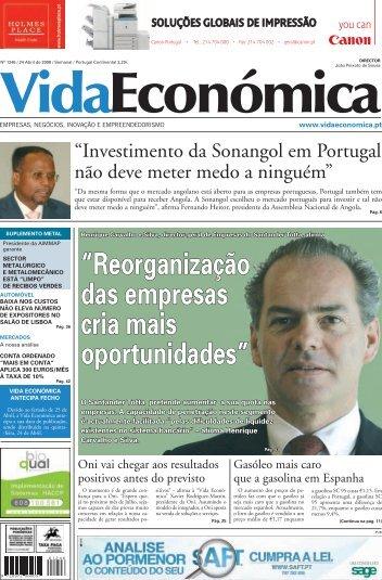 """""""Reorganização das empresas cria mais ... - Vida Económica"""