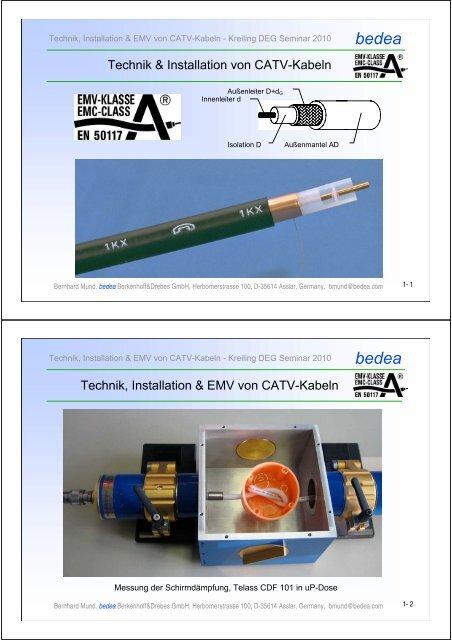 Technik Und Installation Von CATV-Kabeln 2010