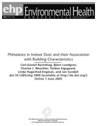 Phthalates in Indoor Dust and their Association with ... - Frareg