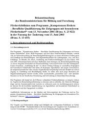 Bekanntmachung des Bundesministeriums für Bildung und ...