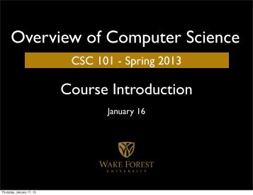 Course Introduction - Home Page Text