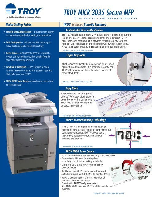 troy micr 3035 secure mfp relyco