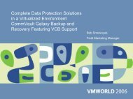 Complete Data Protection Solutions in a Virtualized ... - VMware