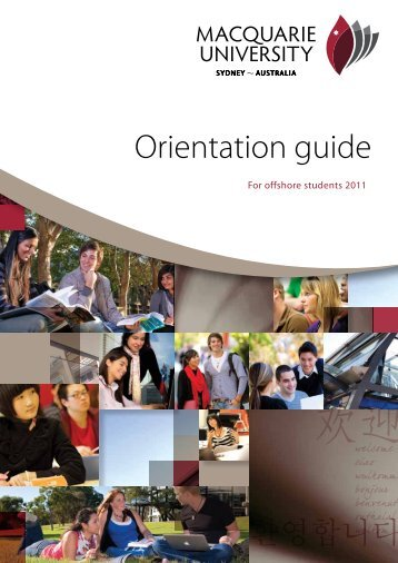 Orientation guide - International - Macquarie University