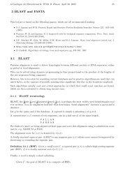 3 BLAST and FASTA 3.1 BLAST - Algorithms in Bioinformatics