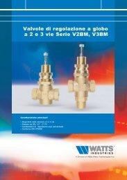 Valvole di regolazione a globo a 2 e 3 vie Serie ... - Watts Industries