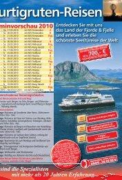 Hurtigruten-Reisen - Blitz-Reisen HomePage