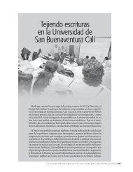 Tejiendo escrituras en la Universidad de San Buenaventura Cali