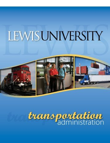 Transportation Administration Brochure - Lewis University