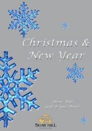Christmas Brochure - Shaw Hill Hotel