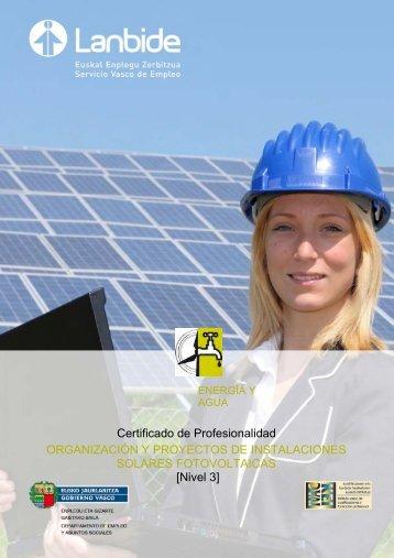 Organización y proyectos de instalaciones solares ... - Lanbide
