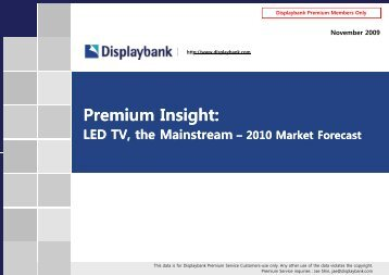 LCD TV Market Growth Forecast by Region - Displaybank
