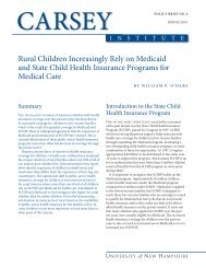 rural Children increasingly rely on Medicaid and state Child Health ...