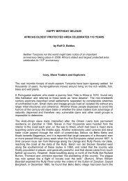 Kakakuona Selous 110 years - wildlife-baldus.com
