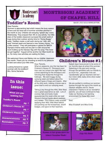 Children's House #2 - Montessori School Chapel Hill