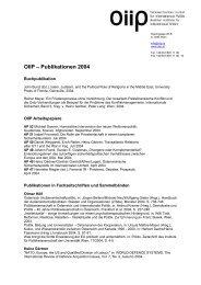 OIIP – Publikationen 2004