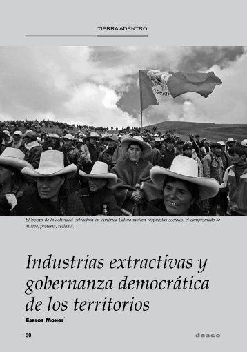 Industrias extractivas y gobernanza democrática de los ... - Desco