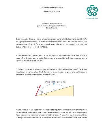 Examen ejemplo Fisica General 2010.pdf - CINVESTAV Querétaro