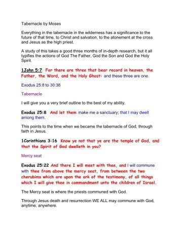The Tabernacle - Burning Bush Christian Crusades