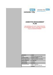 ASBESTOS MANAGEMENT PLAN - Leicestershire and Rutland
