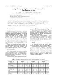 Ecological study regarding the aquatic invertebrate ... - bioresearch.ro