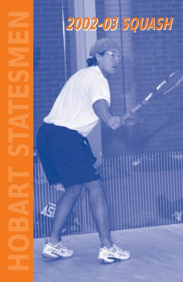Hobart Squash Brochure - Hobart and William Smith Colleges