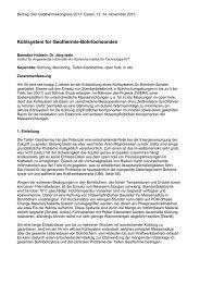 Kühlsystem für Geothermie-Bohrlochsonden - zwerg - KIT