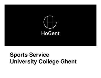 Sports Service University College Ghent