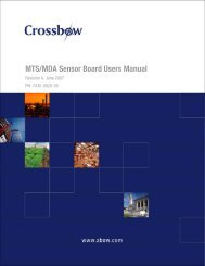 MTS/MDA Sensor Board Users Manual - Crossbow Technology